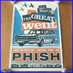 Original Print Phish The Great Went Event Concert Poster 1997 Modern Dog