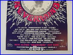 Original Vintage 1992 Nirvana Nevermind Australian Sub Pop Promo Concert Poster