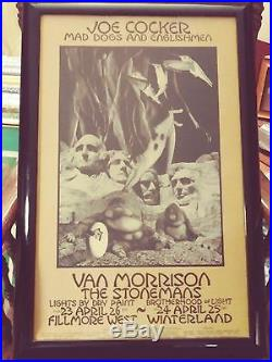 Original Vintage Concert Poster CUSTOM FRAMED BILL GRAHAM BG-229