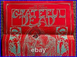 Original Vintage Poster Grateful dead concert memorabilia psychedelic blacklight