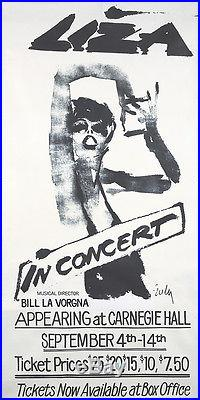 Original Vintage Poster Joe Eula Liza Minnelli In Concert 1979