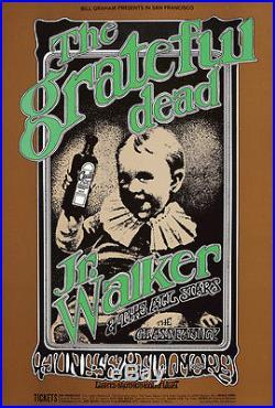 Original Vintage Poster The Grateful Dead Randy Tuten Rock Concert 1969 Walker