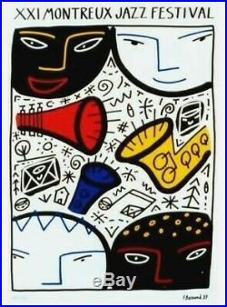 Original vintage poster JAZZ MONTREUX 1987 F. Boisrond