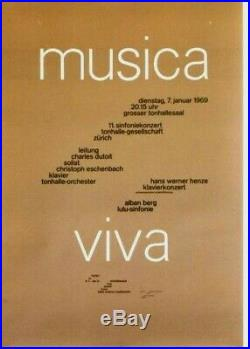 Original vintage poster MUSICA VIVA FESTIVAL ZURICH 1969