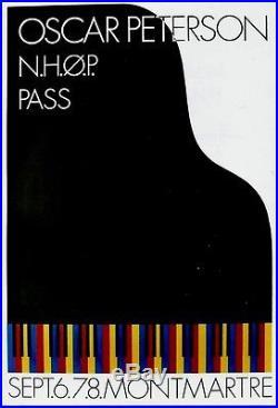 Original vintage poster OSCAR PETERSON JAZZ CONCERT 1974
