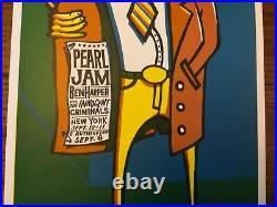 PEARL JAM Ames Brothers Concert Poster Ben Harper NEW YORK/NJ 1998