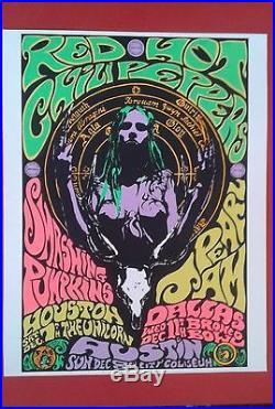Pearl Jam Rhcp Smashing Pumpkins Concert Poster 1991 Kozik Nirvana Rare Mint