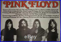 PINK FLOYD 1977 German A1 concert poster ROGER WATERS DAVID GILMOUR MASON NM