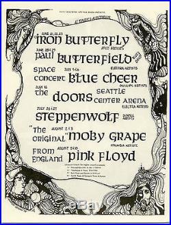 PINK FLOYD Moby Grape THE DOORS Original 1968 Concert Handbill / Flyer