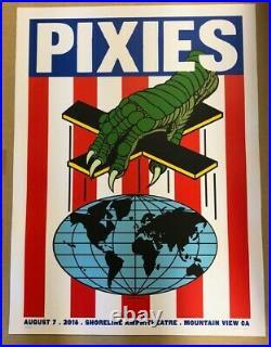 PIXIES Concert Poster 2018 White Frank Kozik