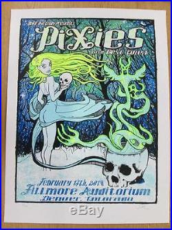 Pixies Fillmore Denver 2014 Kuhn Concert Poster Silkscreen Original