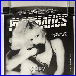 PLASMATICS The Rock Lounge Nov. 1980 NYC Punk CONCERT POSTER Wendy O. Williams