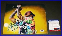 POST MALONE Signed autographed 8X10 Concert Photo Picture PSA JSA BAS