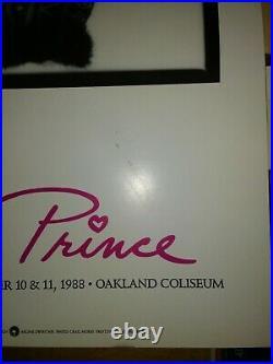 PRINCE 1988 concert poster original first print Oakland Coliseum