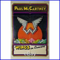 Paul McCartney & Wings 1975 Wings In Concert Poster (UK)