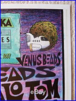 Pearl Jam 1991 Boston original concert poster Joey Mars signed