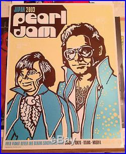 Pearl Jam 2003 Riot Act Japan Tour Concert Poster Ames Bros MINT