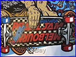 Pearl Jam Ames Bros 2009 Melbourne Concert Tour Poster