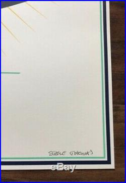 Pearl Jam Bonnaroo 2016 Steve Thomas Art Official Concert Poster AP Signed S/N