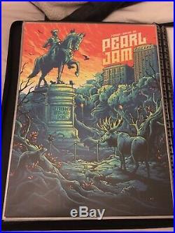 Pearl Jam Boston MA 2018 Fenway Park Dan Mumford Art Official Concert Poster SE