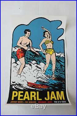 Pearl Jam Brisbane Australia Concert Poster from 2003