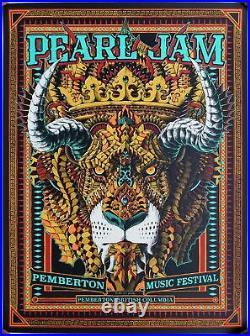 Pearl Jam Concert Poster 2016 British Columbia