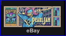 Pearl Jam Concert Poster Print Fenway Boston 2018 Klausen AP Variant Rare /#d