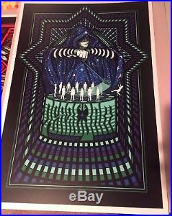 Pearl Jam Concert Tour Poster 2013 Worchester II Brad Klausen Eddie Vedder