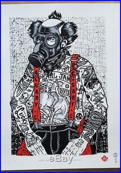 Pearl Jam Concert poster Ames Bros Calgary On 12/2/2013 RARE XX/25 Gas Huffer