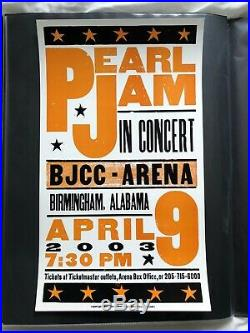 Pearl Jam Hatch Show Print Concert Poster @ BJCC Arena Pelham Birmingham AL 2003