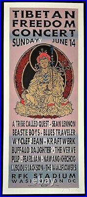 Pearl Jam POSTER Beastie Boys Silkscreen Tibetan Freedom Concert Signed Rolo TAZ