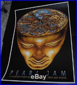 Pearl Jam Portland 2013 concert poster EMEK art print image rare PJ Eddie Vedder