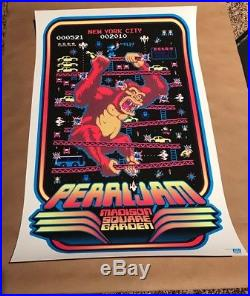 Pearl Jam Poster New York Madison Square Garden CONCERT Donky Kong