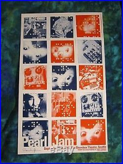 Pearl Jam Seattle, WA Concert 1996 S/N Poster Signed Shawn Wolfe Numbered xx/100