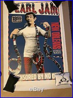 Pearl Jam. Sept 1995 New Orleans Sponsored By No One Concert Tour Poster