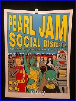 Pearl Jam Social Distortion 2009 Philadelphia Spectrum Concert Poster Tomorrow