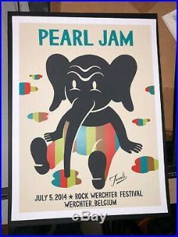 Pearl Jam Werchter Belgium Festival 2014 Gary Taxali Concert Print Poster MINT