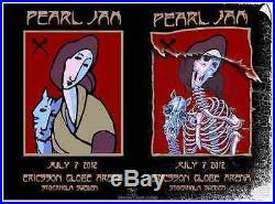 Pearl Jam concert poster screenprint pj20 Stockholm EMEK Stanley Mouse vedder