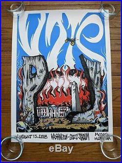 Pearl Jam poster Missoula MT 08/13/2018 Concert Poster Trump tester