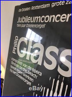 Philip Glass Jubileum Music Concert Poster Rotterdam 1978