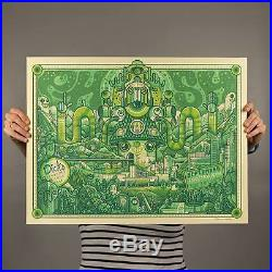 Phish Dicks Sporting Goods Park Concert Poster CO.'16 Mint Green version LOW#
