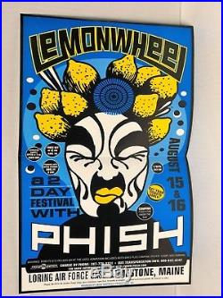 Phish Lemonwheel 11x17 concert Poster