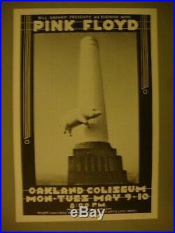 Pink Floyd 1977 Original Concert Poster Oakland