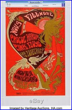 Pink Floyd Fillmore/Winterland Concert Poster BG-92 CGC 9.8 (Bill Graham, 1967)