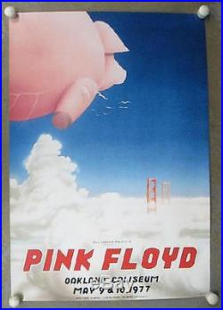 Pink Floyd Oakland 1977 Concert Poster Tuten 2nd