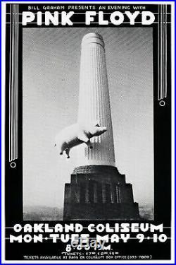 Pink Floyd Oakland Coliseum 1977 Original Concert Poster LAST ONE
