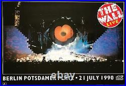 Pink Floyd The Wall Live In Berlin 1990 Vintage Concert Poster 24.5 x 35.5