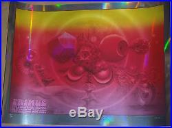 Primus Riverside Mars-1 Mirror Foil concert poster print Chocolate Factory 2014