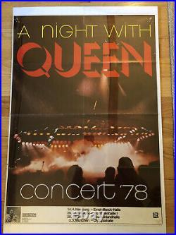 QUEEN 1978 Concert Poster Original ULTRA RARE
