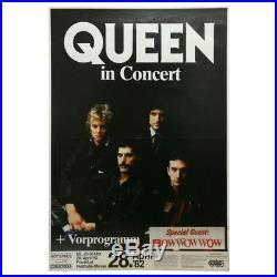 Queen 1982 Festhalle Frankfurt Concert Poster (Germany)
